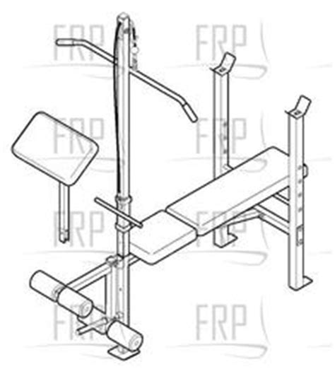 Weight Bench Replacement Parts weider 500 weccbe73010 fitness and exercise equipment repair parts