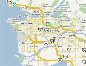 map canada vancouver images