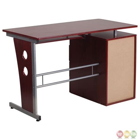 Pull Out Desk Drawer by Mahogany Desk With Three Drawer Pedestal And Pull Out