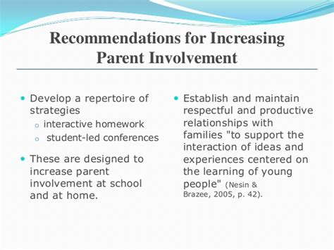 parent involvement with homework