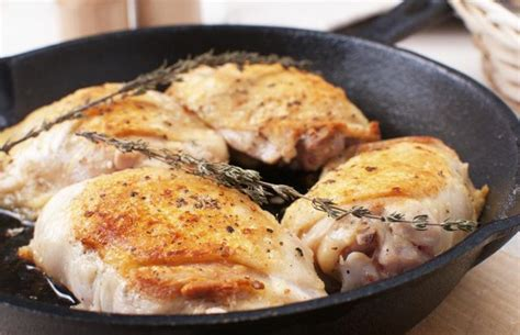 how to pan saut 233 boneless skinless chicken thighs