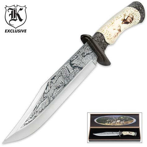 knife display box majestic elk fixed blade knife with display box kennesaw
