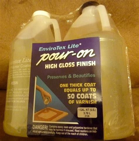 Pourable Clear Epoxy Clear Resin Epoxy 1 Gal Pour On High Gloss Finish