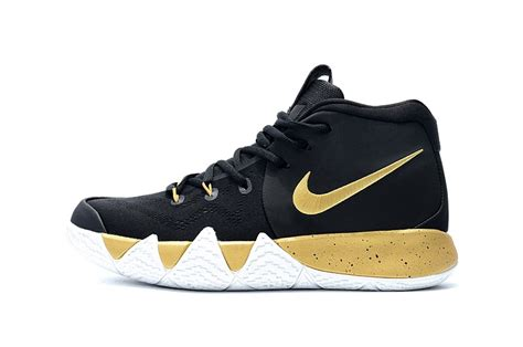 Sepatu Basket Nike Kyrie 4 Black White cheap nike kyrie 4 black gold white for sale new jordans 2018