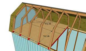 how to build a gambrel roof gambrel loft photos