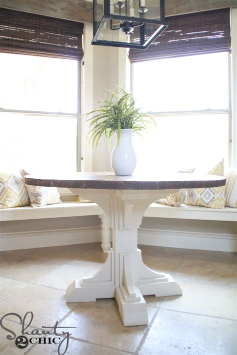 unique functional diy kitchen table diy round table shanty 2 chic