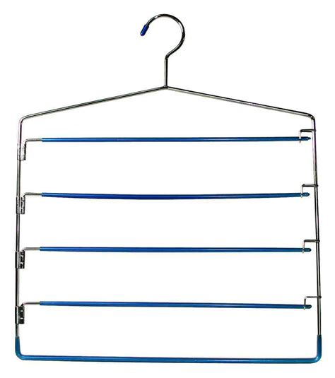 swing out clothes hanger five tier swing arm slack rack in non slip hangers