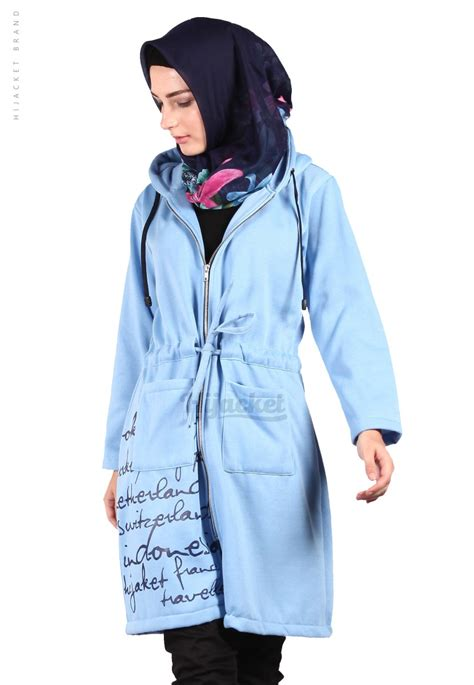 Jaket Hijaber Hijacket Urbanashion Hj Ub Royal Blue Navy Original 3 jaket hijaber urbanashion sky blue hijacket jaket muslimah distro beda