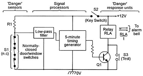 wireless home security circuit diagram circuit and