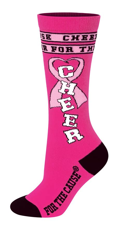 cheer socks chass 233 174 cheer for the cause 174 knee high sock omni cheer