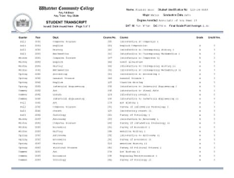 free college transcript template microsoft word grade transcript template