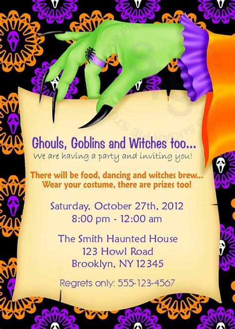 printable birthday invitations halloween theme items similar to printable halloween birthday party