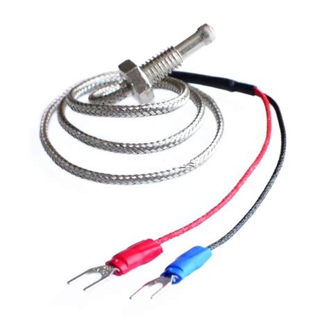 800 C K Type Thermocouple thermocouples k type 800c 2m wrxt 01 stud mount s electronic