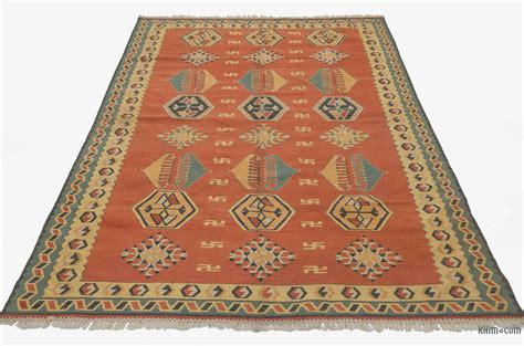 orange kilim rug k0004073 orange new turkish kilim rug