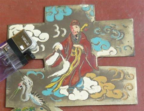 Plat Kuningan 04 Mili antikpraveda lukisan diatas plat kuningan 8 dewa peranakan happiness