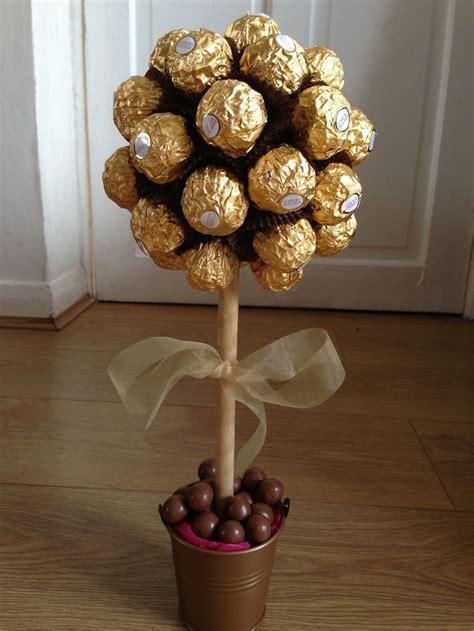 Ferrero rocher tree.   Centerpieces   Decor   Brown