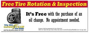 Car Tires Coupons Coupon For Free Tire Rotation Tilly Mill Goodyear Auto