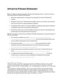 appositive phrase worksheet davezan