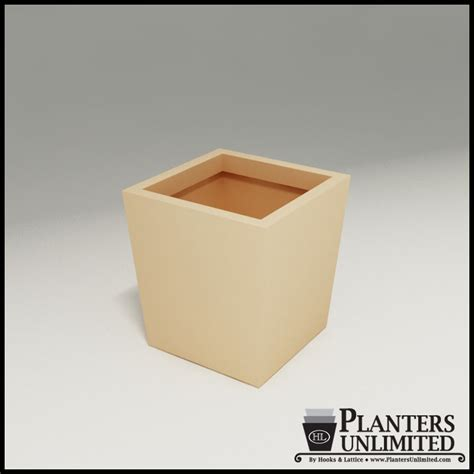 Modern Square Planter by Modern Tapered Square Planter 20in L X 20in W X20in H