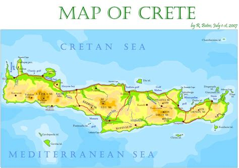 crete island  tourist travel guide crete crete map