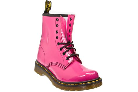 Boots Pink dr martens 1460 pink patent ler boots sizes 3 8 ebay