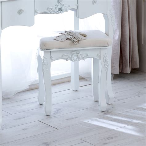 white bedroom stools uk white wooden dressing table set stool mirror french chic