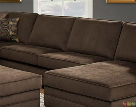 Brown Sectional Sofa by Deluxe Beluga U Shaped Brown Sectional Sofa By Simmons