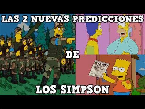 """ver """"las 2 nuevas predicciones de los simpson"""" en youtube"""