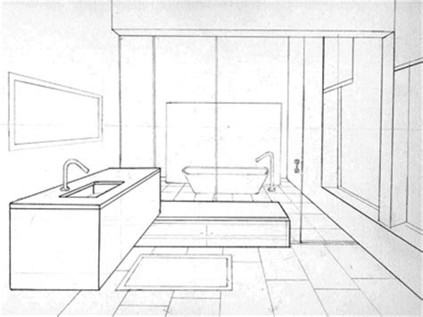 sketch of bathroom bathroom sketch in perspective by bryant littrean dribbble