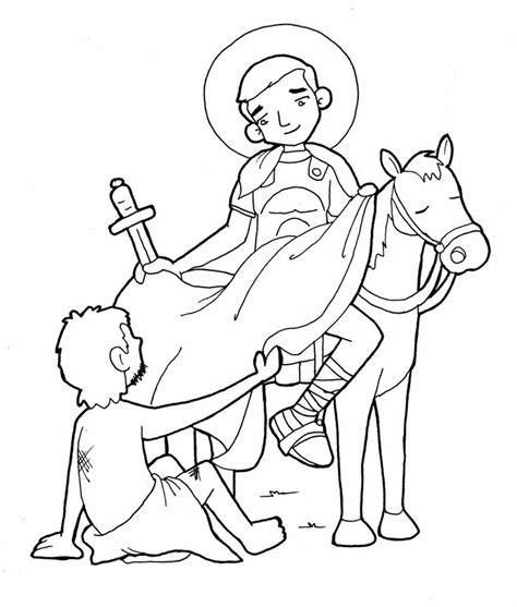 catholic abc coloring pages saint martin catholic coloring page feast day is november