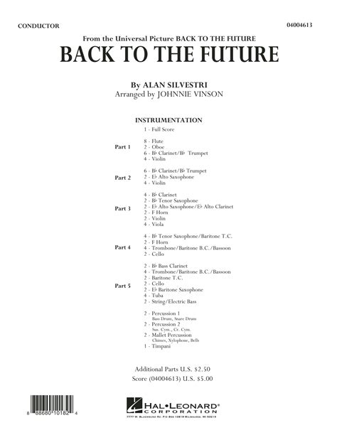 theme music back to the future vinson back to the future main theme sheet music