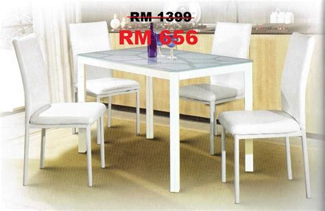 Tempered Glass Meja dining table sets and dining room sets offer ideal home furniture