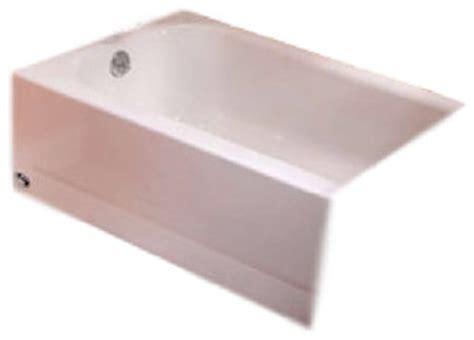 porcelain on steel bathtubs bootzcast bathtub 5 lh outlet porcelain on steel contemporary bathtubs by builderdepot inc