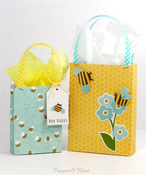 popper and mimi handmade gift bag silhouette tutorial with free svg cut file