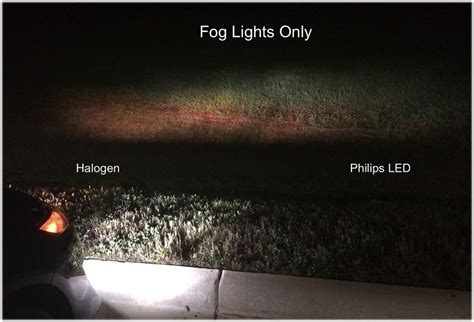 Led Light Bulbs Vs Halogen H8 H11 H16 Philips X Treme Ultinon Led Bulbs Vs Halogen Fog Light Bulbs 2014 Jeep Forums