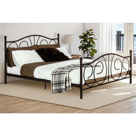 home depot bed victoria bronze queen bed frame 4092239 the home depot