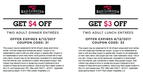 Where Can I Use A Red Lobster Gift Card - red lobster coupons red lobster printable coupon