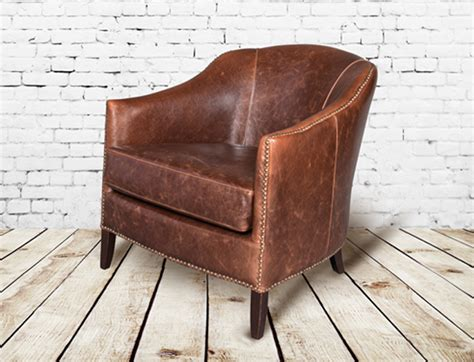 leather club chair seating