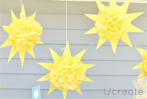 How To Make A Paper Sun - sunburst pom pom tutorial u create