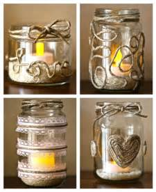 Upcycling Glass Jars - diy project retro chic twine and glass candle holders what about this