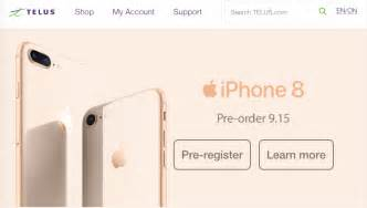 telus iphone 8 iphone 8 plus contract pricing starts at 230 on premium plus iphone in canada