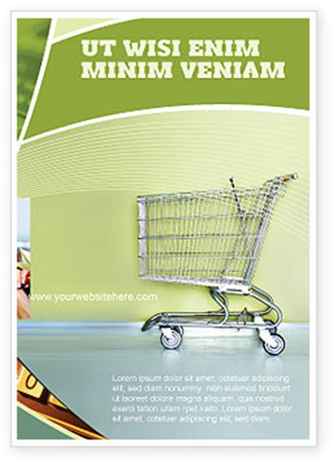 Shopping Cart On Olive Background Flyer Template Background In Microsoft Word Publisher And Free Html Shopping Cart Template