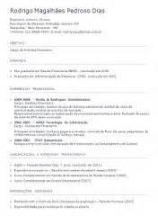 Modelo De Curriculum 2015 España Modelo De Curriculum 2015