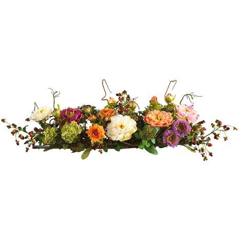 flower arrangements centerpieces mixed peony centerpiece silk flower arrangement