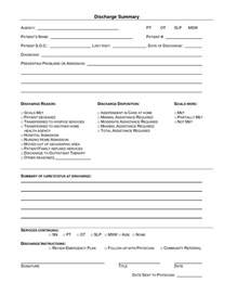 Discharge Form Template by Pin Hospital Discharge Summary Report On