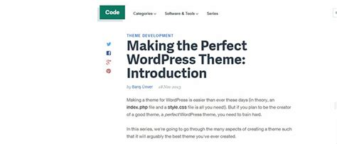 20 tutorials how to create a wordpress theme