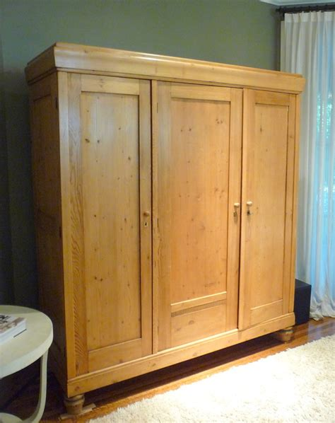 Pine Tv Armoire by Antique Vintage Belgium Pine Armoire Tv Cabinet Ebay