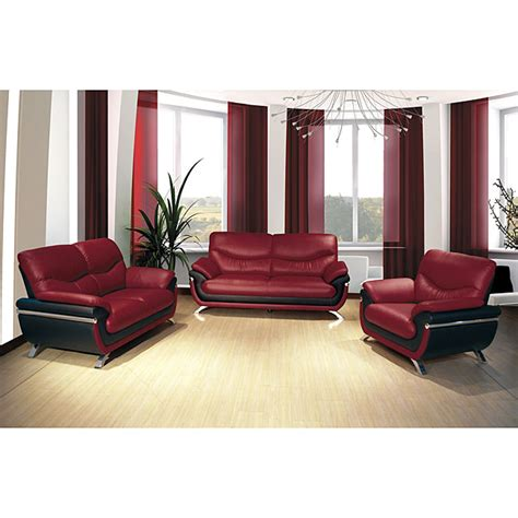 red and black couch set alicia red black two tone modern sofa and loveseat set