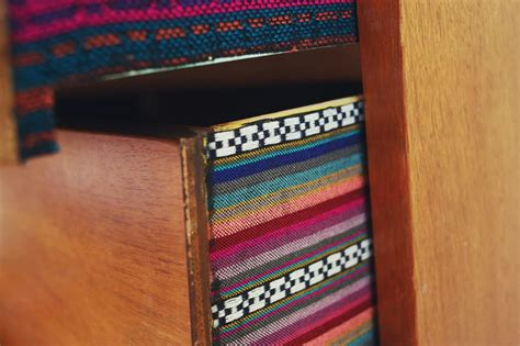 try this fabric lined dresser drawers a beautiful mess