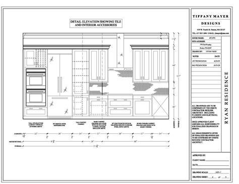 detail drawing size interior design elevation drawings